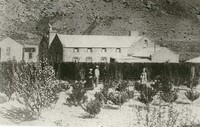 Cape Broom Hotel Back Garden c1873 Building was partly destr.