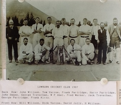 Lowburn Cricket team 1907