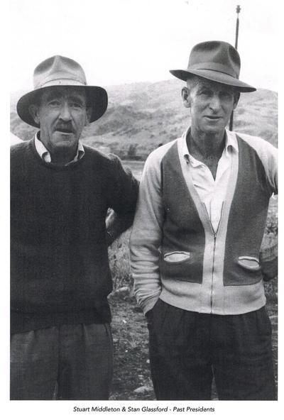 Stuart Middleton, and Stan Glassford circa 1950