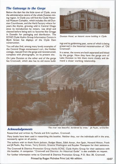 The Cromwell Gorge-Backcover